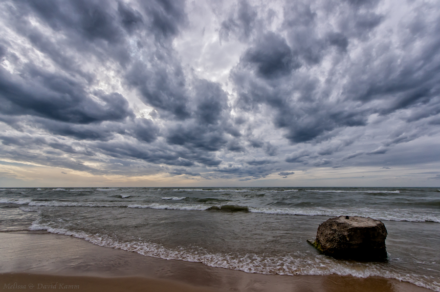 Dark Clouds over Lake Michigan
