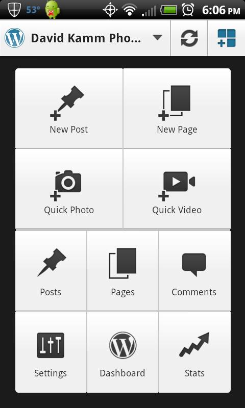 Android Smartphone WordPress App