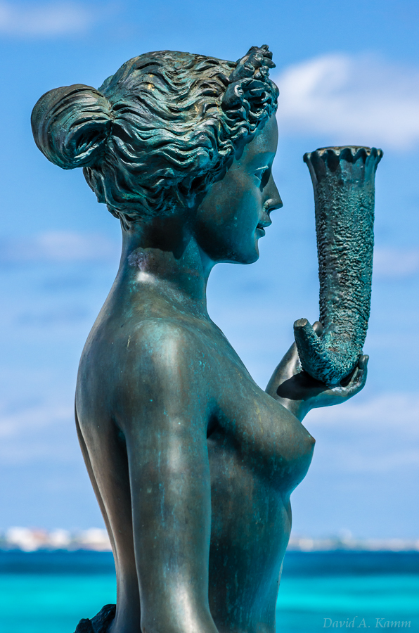 Poolside Statue of Woman - Cancun, Mexico
