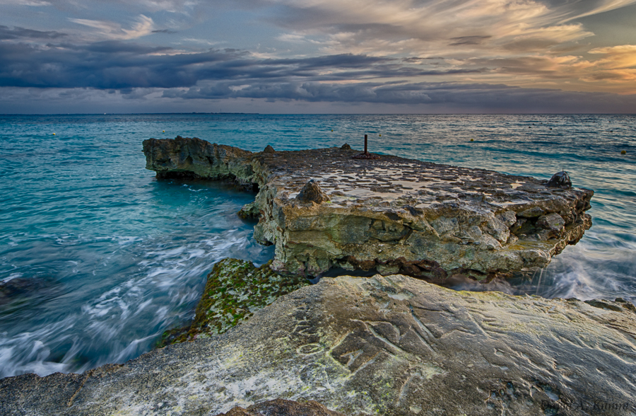 Rocky Outcropping at a Riu Resort in Cancun, Mexico