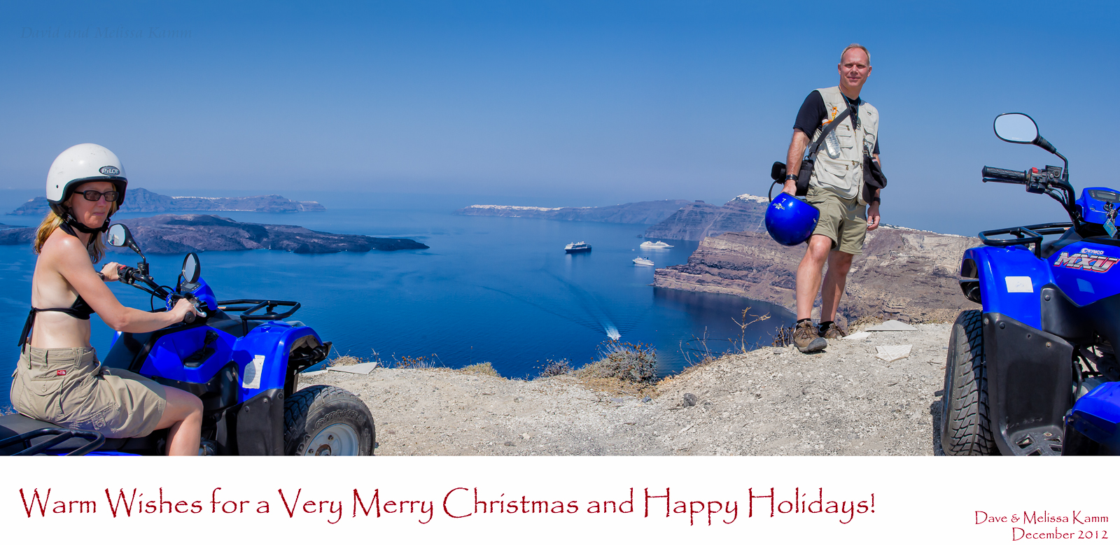 Holiday Greetings 2012 - Santorini, Greece