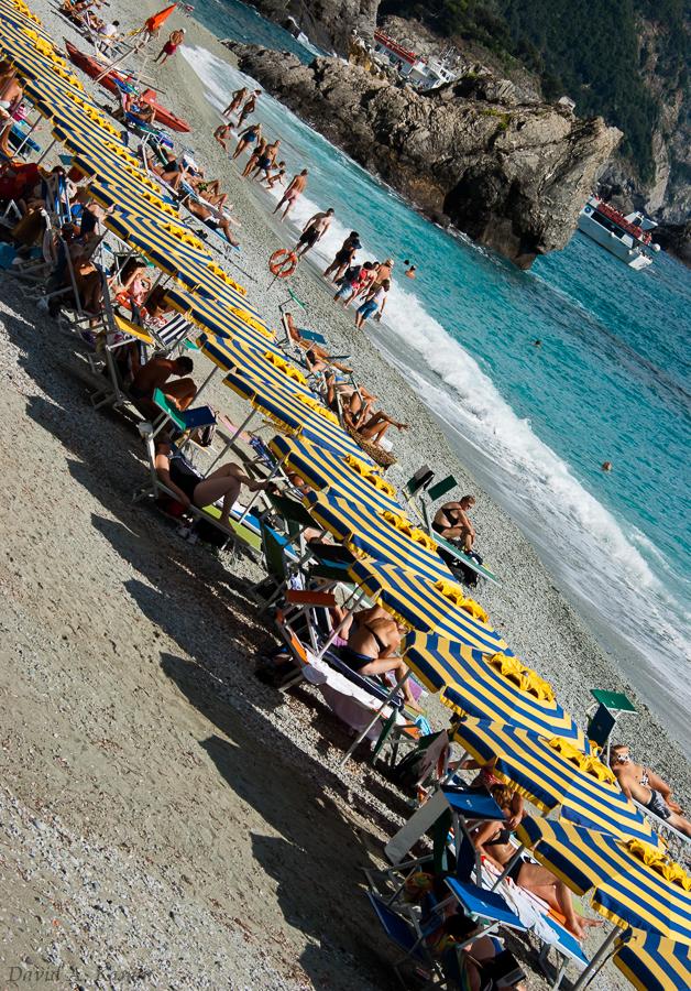 Monterosso al Mare Beach Umbrellas - Cinque Terre, Italy