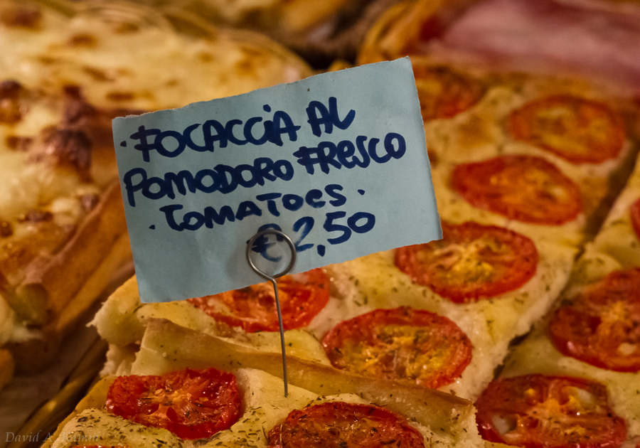 Focaccia Pizza with Tomatoes - Cinque Terre, Italy