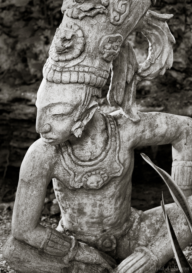 Statue of a Mayan Warrior - Riviera Maya, Mexico