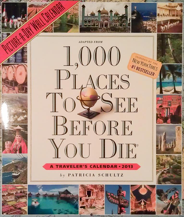 1000 Places - Travel Calendar 2013