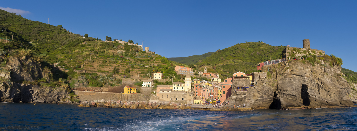 View of Vernazza from the Sea