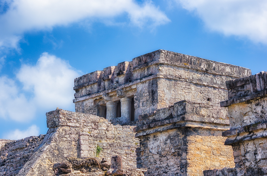 El Castillo - Mayan Temple at Tulum in Mexico