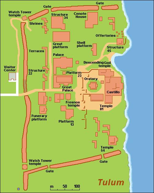 Tulum Site Layout