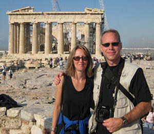 Image: D and M at the Parthenon